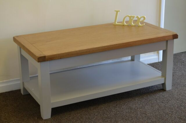 Dorset Oak Coffee Table Pine in Painted French Grey Solid FREE DELIVERY!!