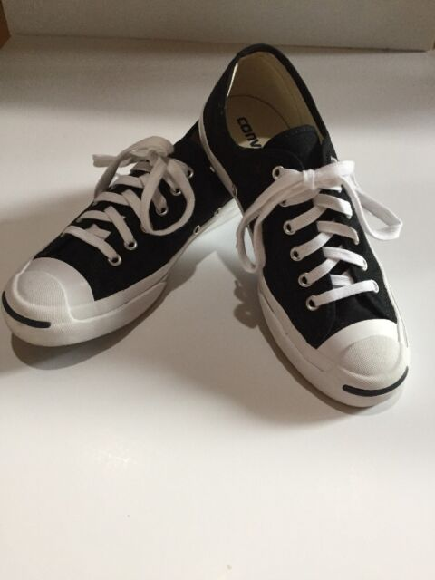 551049f50efa Converse Jack Purcell CP Canvas Low Top BLACK BLACK WHITE SIZE 6  7.5