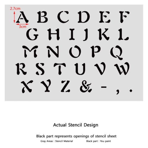 Alphabet Stencil Reusable Template for Wall Art Crafting and Painting Signs #3