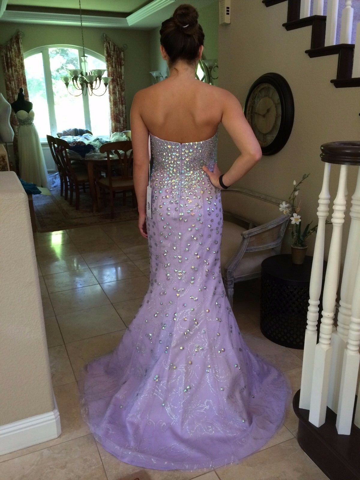 799 NWT NWT NWT JOVANI MERMAID PROM PAGEANT FORMAL DRESS GOWN SIZE 0 d07f94