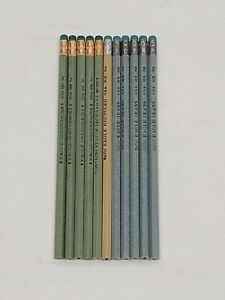 Recycled Currency & Blue Jeans Pencil Lot 11 total Pencils Novelty Writing NOS