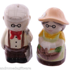 Old Fogey Gardening Couple salt & pepper set !FREE UK P&P!