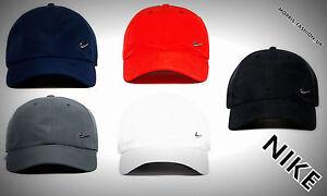 Nike Metal Swoosh Cap Baseball Hat Nike Logo Adjustable Nike Logo ... 9fbcc7b830