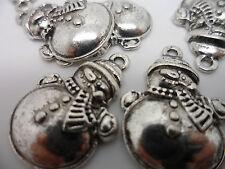 10 Tibetan Silver snowman pendant, Charms,Lead & Cadmium Free, 25x17mm Christmas