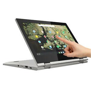 NEW-Lenovo-2-in-1-C340-11-6-034-HD-Touch-Intel-N4000-32GB-eMMC-4GB-RAM-Chrome-OS