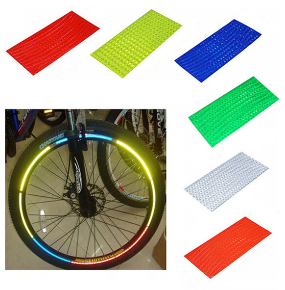 Fluorescent  Decoration  Reflective Strip Safety Tape Vinyl  Bicycle Sticker