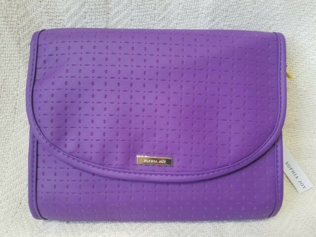 Sophia Joy Purple Cosmetics Bag Travel Valet w/ Zipper ...