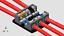 thumbnail 6 - KnuKonceptz KNF-60 2 Way 0 Gauge Fused Distirbution Block + In Line Fuse Holder