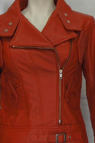 Soft Nappa Real Red Jakke Sheep Læder Ladies Lowa Designer Retro Womens wYPfgf7Bq