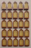 X25 Lego Castle Dungeon Windows Brown & Gold Castle Parts 10217 4842 4757