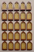 X25 Lego Castle Dungeon Windows Brown & Gold Castle Parts 10217 4842 4757