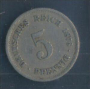 German-Empire-Jagerno-3-1876-B-very-fine-Copper-Nickel-1876-5-Pfennig-7848899