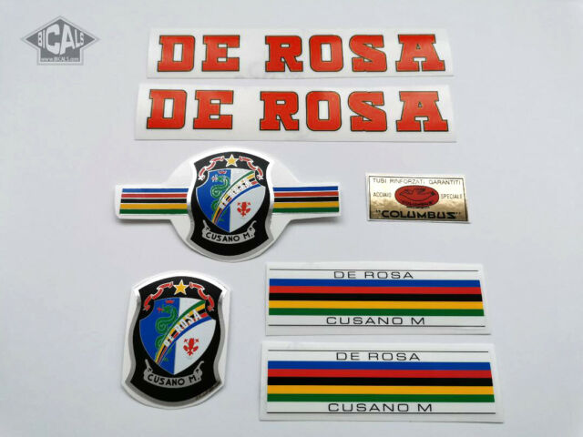 DE ROSA 60`s white decal set sticker complete bicycle FREE SHIPPING