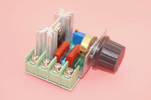 2000W Motor de corriente alterna SCR Regulador De Velocidad Ajustable 50-220V Regulador De Voltaje Atenuador