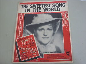 The Sweetest Song In The World from 034We039re Going To Be Rich034   Sheet Music - Fremingon, Devon, United Kingdom - Refund given if product is faulty or if buyer disagrees with the description. Product must be returned in exactly the same condition as it was received in. If the item is sealed then the seal must not be broken. Seller p - Fremingon, Devon, United Kingdom