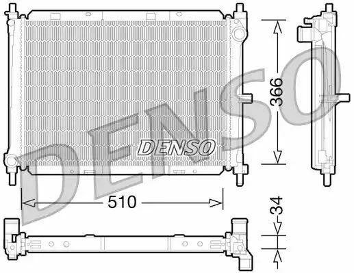 1x denso Radiador DRM46038 DRM46038