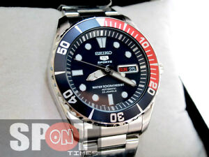 Details About Seiko 5 Sports Automatic Divers 23 Jewels 100m Men S Watch Snzf15k1