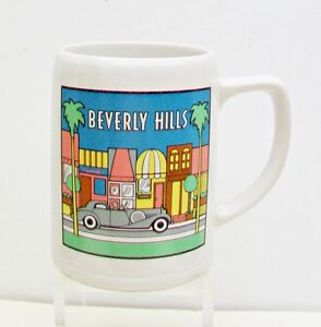 PAPEL-Beverly-Hills-Very-Large-Coffee-Mug-Tankard-1930s-1940s-Art-Deco-Style