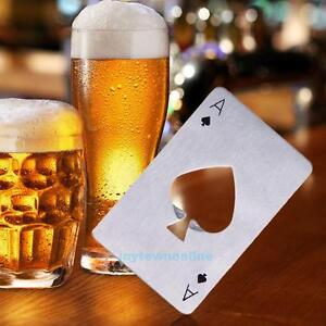 Playing-Card-Design-Stainless-Steel-Bottle-Opener-Beer-Cap-Catcher-Home-Bar-Tool