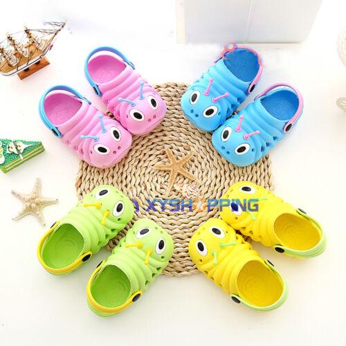 Infant Kids Baby Boy Girl Slip On Summer Beach Sandals Flat Slipper Jelly Shoes