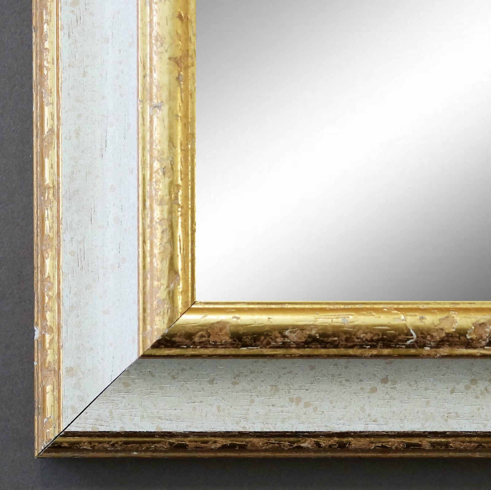 Wandspiegel Weiss Gold Acta Antik 6,7 - alle Größen
