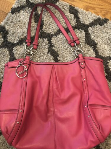 Vintage COACH Leather Rose Pink ALEXANDRA Shoulder
