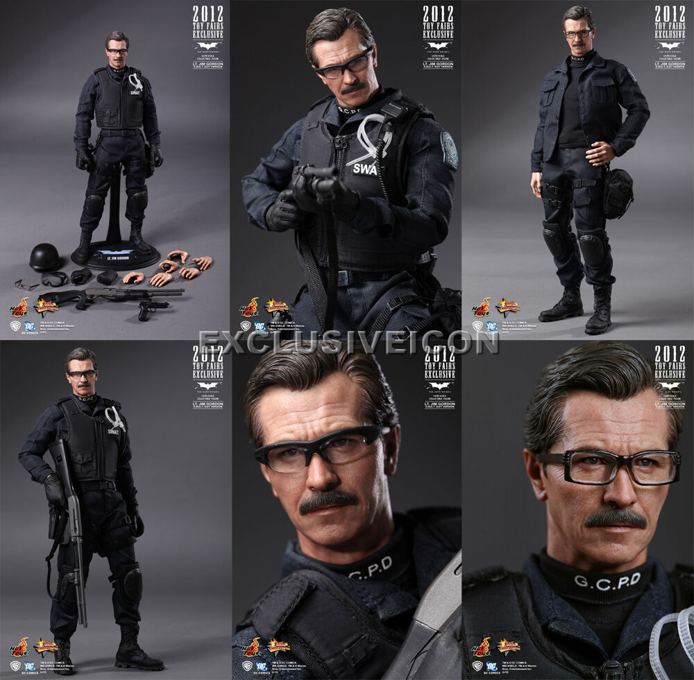 Hot Toys MMS 182 Batman The Dark Dark Dark Knight 1 6 Lt Jim Gordon SWAT Toyfair Ex Sealed 0760c6