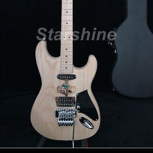 Unfinished-Franken-Electric-Guitar-FR-Bridge-Ash-Body-Maple-Fingerboard