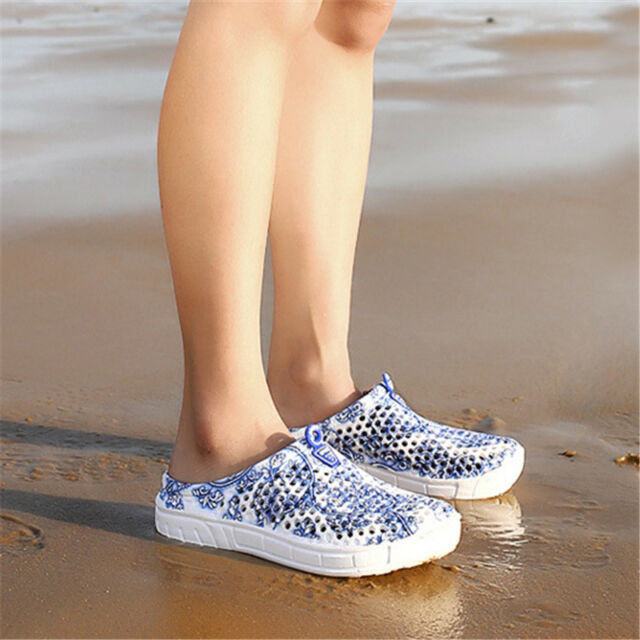 Men Women Water Shoes Yoga Exercise Pool Beach Aqua Slippers Slip On Surf Shoes