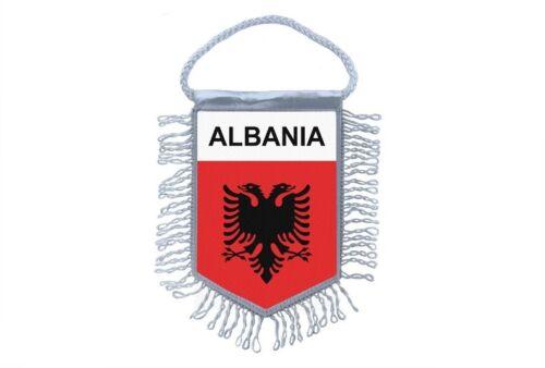 Club Flag Mini Country Flag Car Decoration Albania Albanian