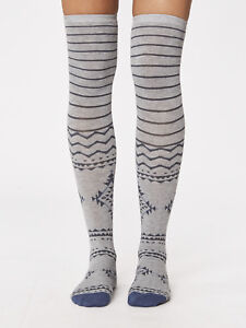 Blissfully Soft Bamboo Knee Socks Grey Marle Thought Bo Long Size 4 to 7