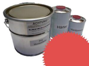 3-5-Litros-Set-2k-Pintura-RAL-2012-anaranjado-BRILLO-ninguna-Laca-Transparente
