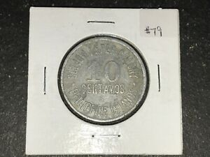 Philippines-1920-Culion-10-Centavos-Coin-Lot-79