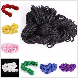 27-metres-1mm-Nylon-Macrame-Cordon-Fil-Pour-Tresse-Bracelet-16-couleurs