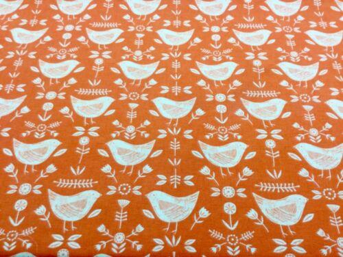 Scandi Style oiseaux en tissu de coton Nouveau Rideau//Ameublement//Artisanat Fryetts Narvik
