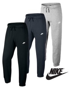 Nike-Mens-Club-Pants-Fleece-joggers-Sweat-Bottoms-Black-Grey-Navy-Med-Large-XL