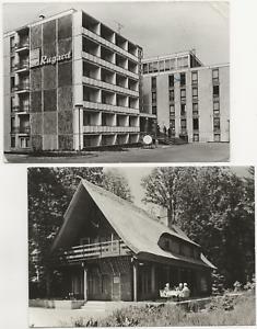 88/73 AK JAGDHAUS HEILIGENDAMM JAHR 1969 + AK BINZ RÜGEN RUGARD JAHR 1977 OSTSEE