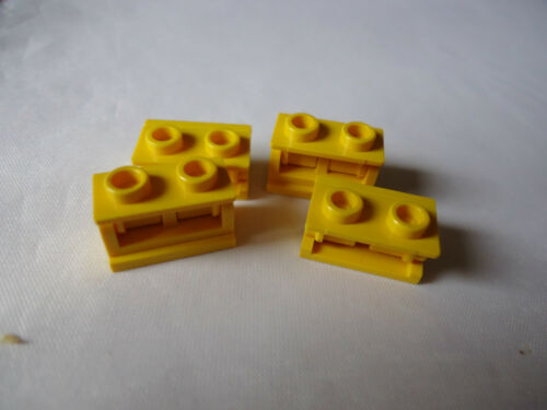 COMPLETE ASSEMBLY LEGO 1 x 2 YELLOW HINGE BRICK x 4 PART 3937c01