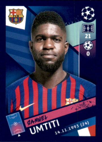 Sticker 10 Topps Champions League 18//19 Samuel Umtiti