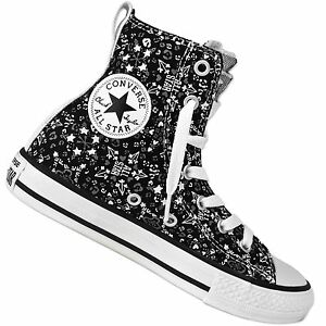 5d4188111800 Converse all Star Party Hi Graphic Chuck Taylor Hi Trainers Stars ...