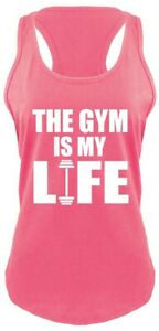 The-Gym-Is-My-Life-Ladies-Tank-Top-Workout-Gym-Fitness-Trainer-Gift-Racerback-Z6