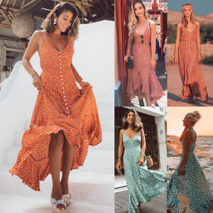 Women-039-s-Maxi-Boho-Dress-Floral-Summer-Beach-Cocktail-Evening-Party-Long-Sundress
