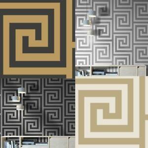 Debona-Athena-Greek-Key-Metallic-Glitter-Wallpaper-4-Colours