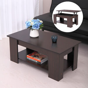 Details About Modern Wood Lift Top Coffee Table W Storage E Living Room Furniture Walnut