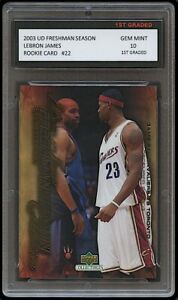 LEBRON JAMES 2003-04 UPPER DECK #22 1ST GRADED 10 ROOKIE CARD LAKERS/CAVALIERS