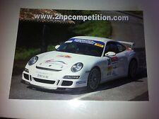 CP POSTCARD CARTOLINA PORSCHE 911 HOT RALLY RALLYE WRC 2007