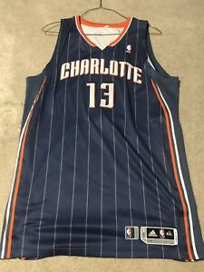 buy online b2137 1ec13 Details about nazr mohammed Signed Game Worm Charlotte bobcats Jersey NBA