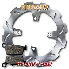 Pads KX125 KX250 M//R 2003-2008 Kawasaki Rear Stainless Steel Brake Disc Rotor