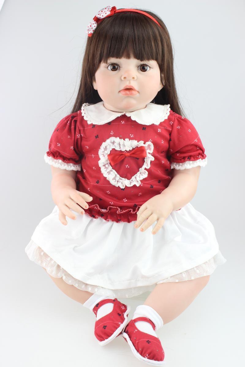 70 Cm Muñecas Reborn Bebé niñas juguetes educativos un año de edad Azul Bebe Regalo De Navidad