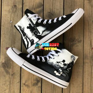 ca4b2a209fcd MICKEY MOUSE dark version Disney hand painted shoes zapatos pintados ...